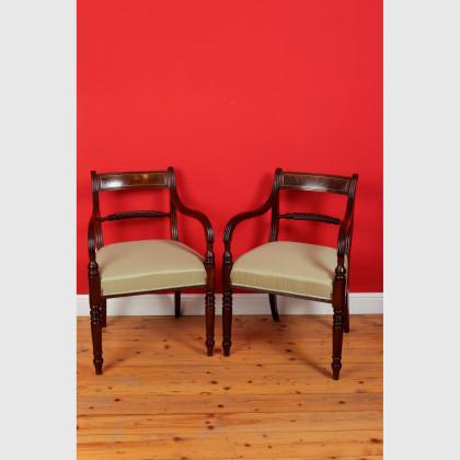 Sehr seltenes Paar Carver Stühle 12714