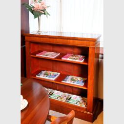 Offenes Bücherregal aus Mahagoni