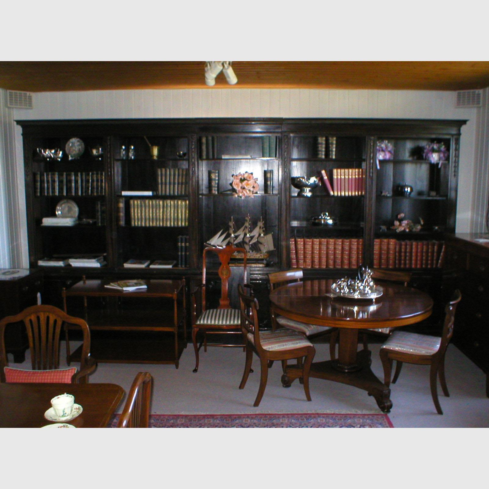 englische b cherwand aus mahagoni the english house. Black Bedroom Furniture Sets. Home Design Ideas