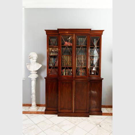 Bücherschrank mit schräger Schreibklappe