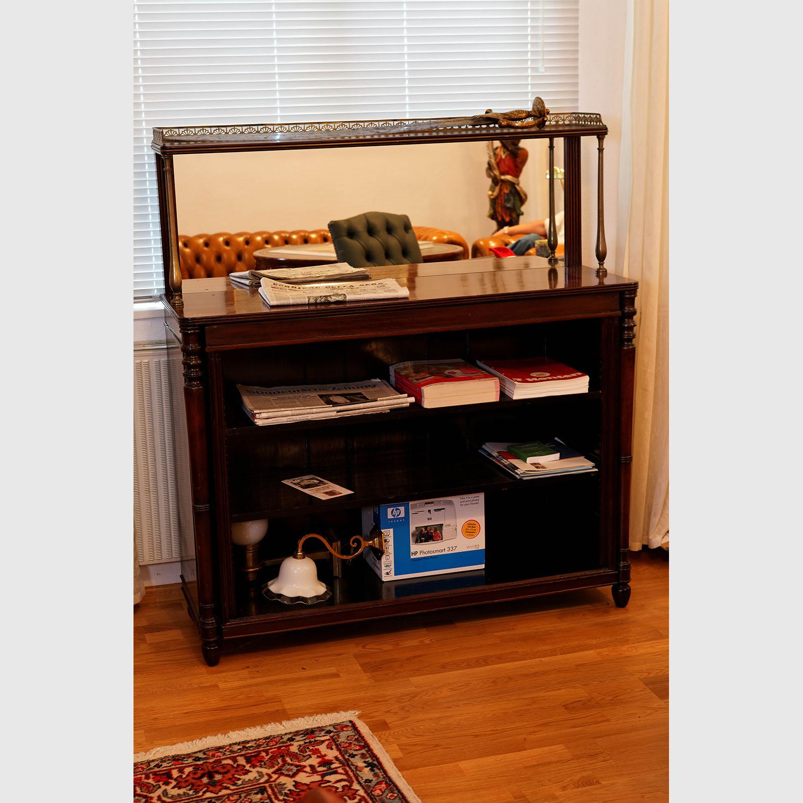 offenes b cherregal aus mahagoni the english house. Black Bedroom Furniture Sets. Home Design Ideas