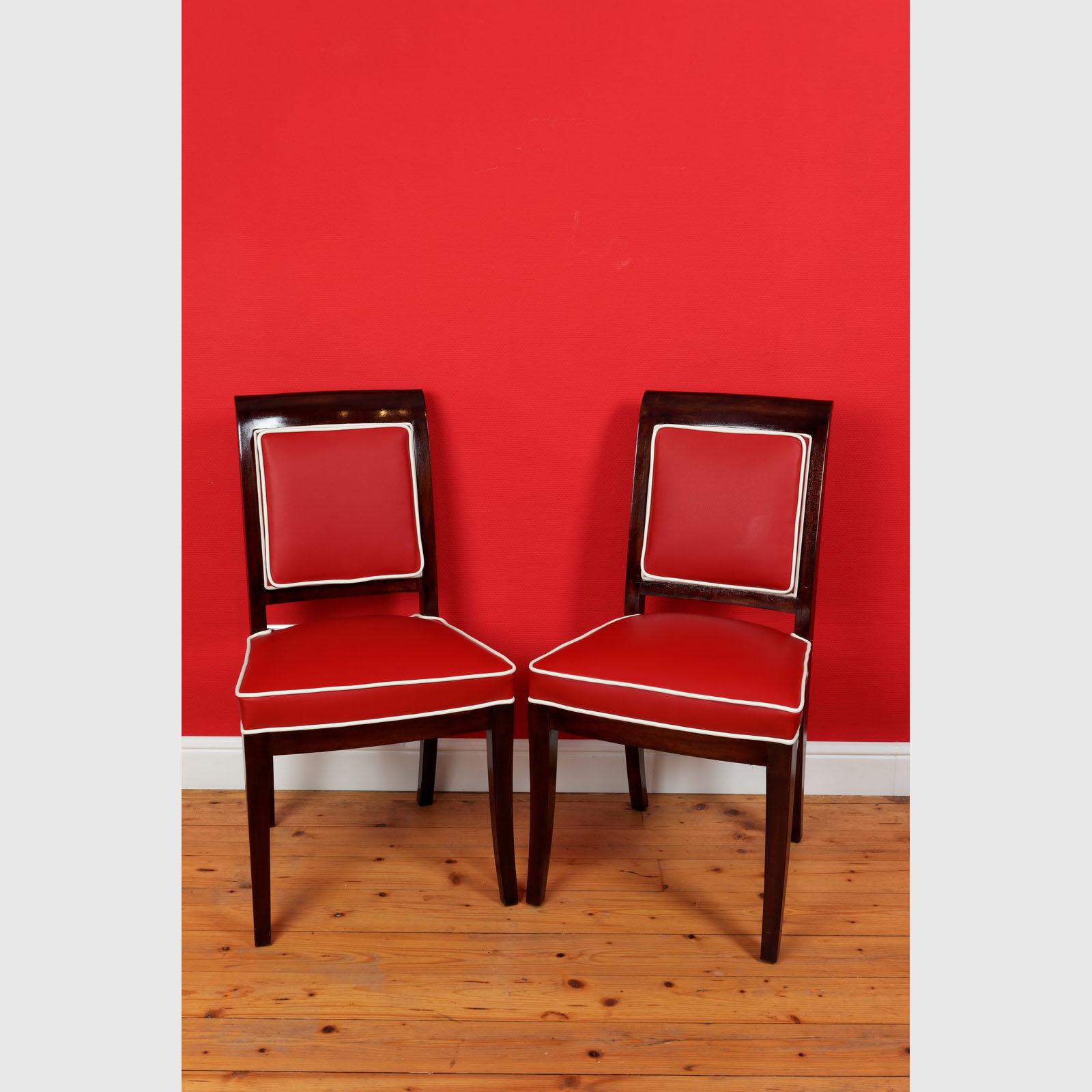 Seltenes Set Von 8 Stühlen