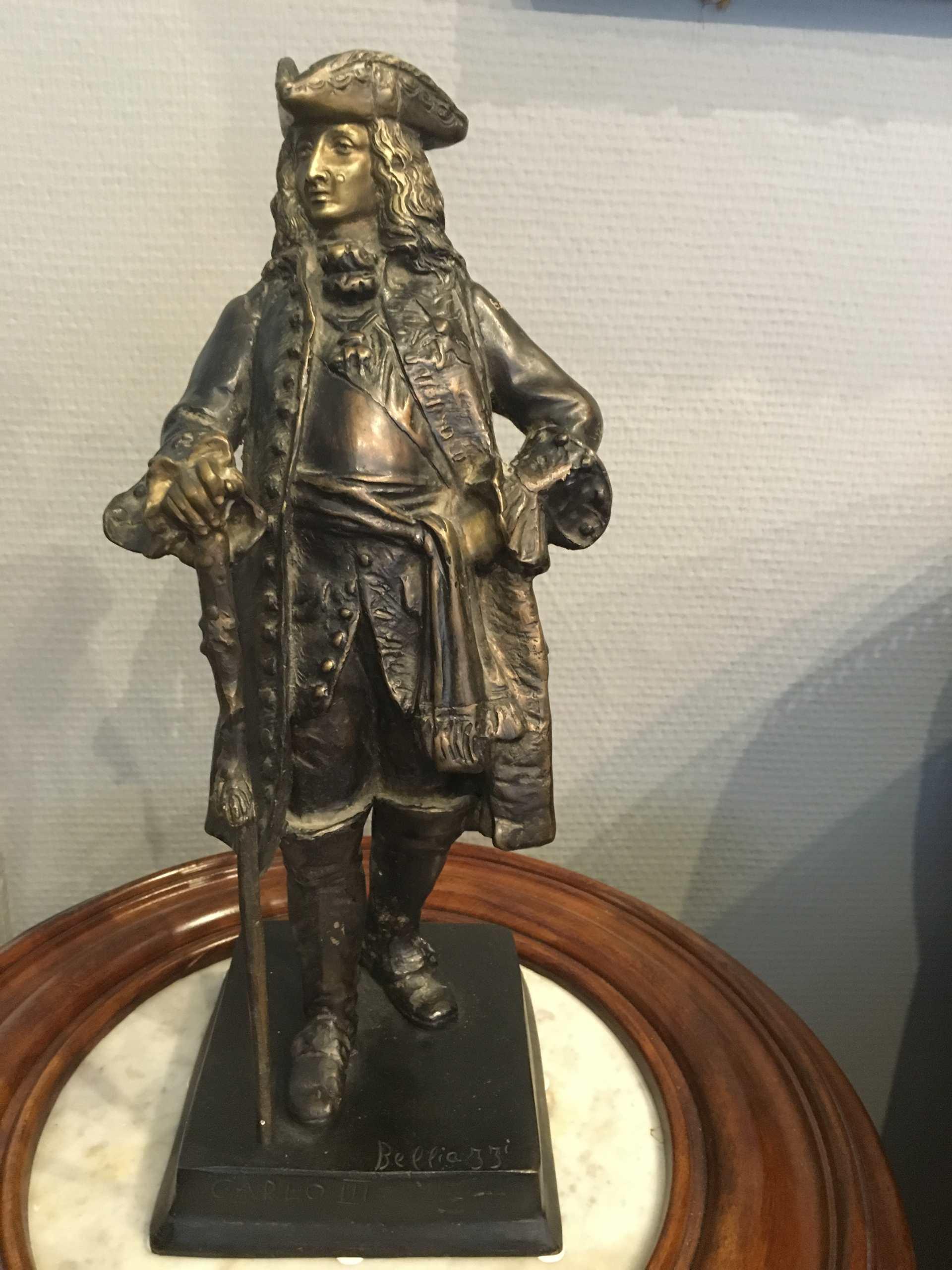 """Bronzeskulptur """"Karl III Von Spanien"""""""