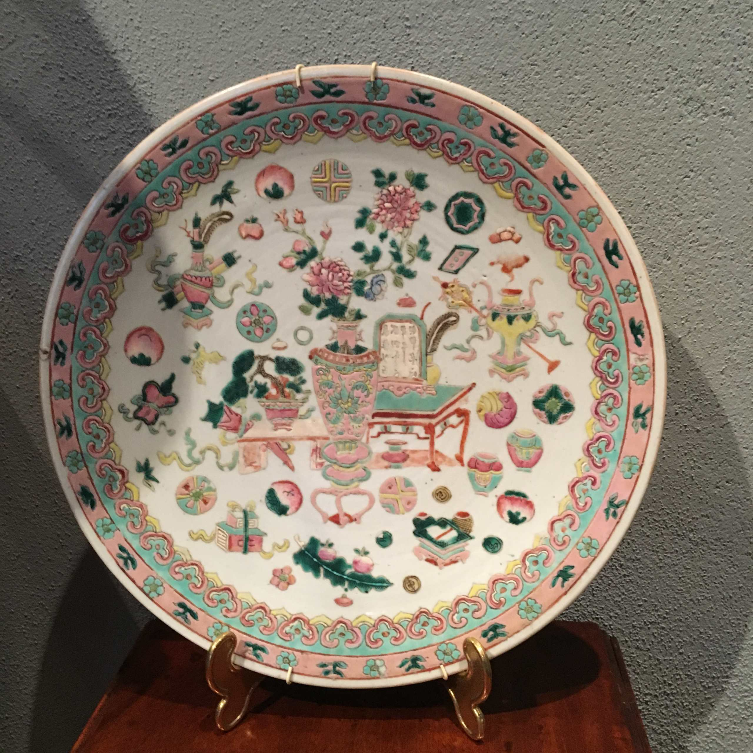 Seltener Porzellanteller Qing Dynastie
