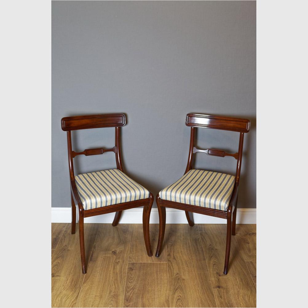 Paar Stühle, Mahagoni